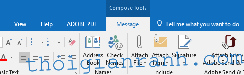 Outlook Attach File Item 1