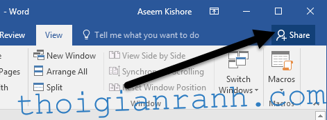 Word Share Button 1